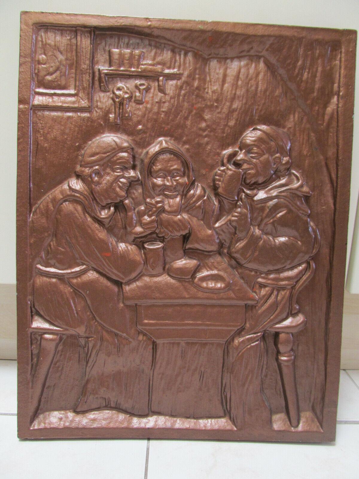 8 kg  Kaminbild  52 x 40 x 2,5 cm   Relief  Bild  Aluminium   Kamin  Wein