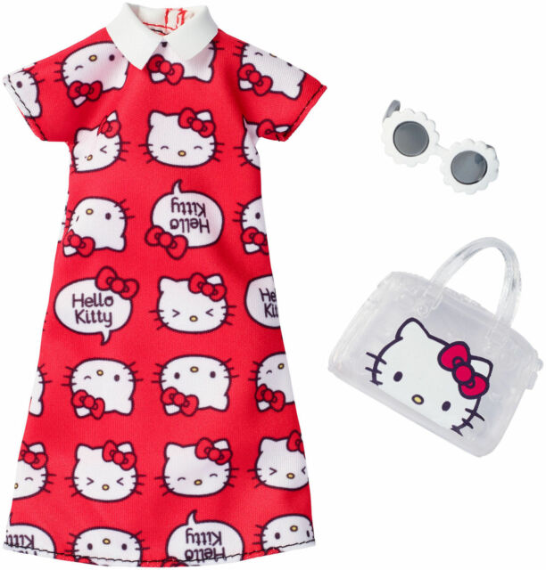 Barbie Doll Hello Kitty Fashion Pack Red Dress Outfit Fashionista 2017 Sanrio
