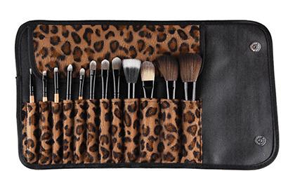 12 Pcs Pro Makeup Set Powder Foundation Eyeshadow Eyeliner Lip Cosmetic Brushes