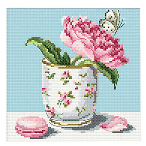 Flowers-Stamped-Cross-Stitch-Embroidery-kit-14ct-11ct-Aida-Cloth-Sewing-Craft