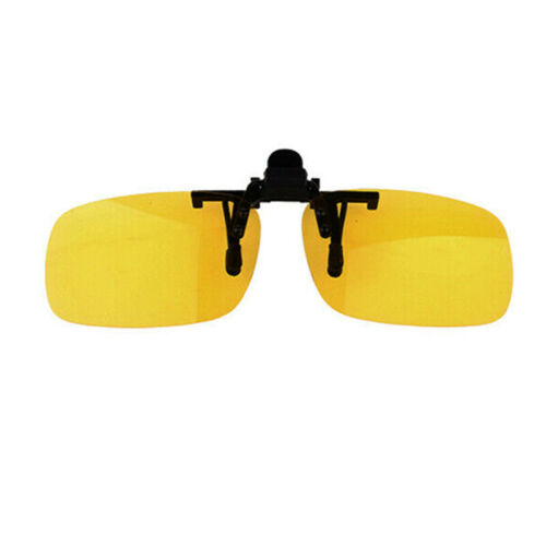 Flip Up Clip On Sunglasses Glasses Polarized Night Vision Driving Lens Eyewear A