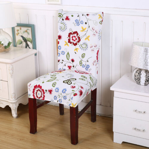 Universal Stretch Dining Chair Covers Elastic Kitchen Chair Protector Slipcover