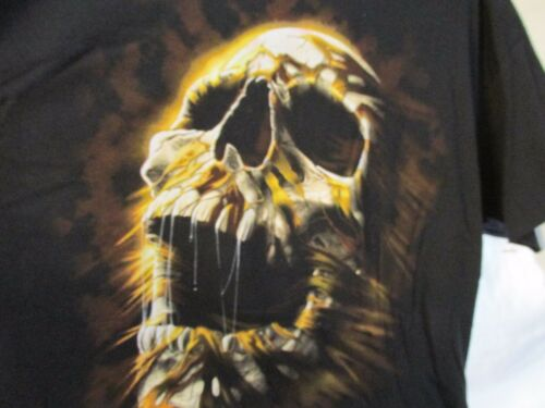 T Shirt Men's Sz XL SCULL SKULL XLarge , Fruit of the Loom Brand