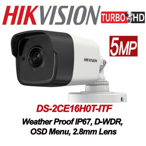Original Hikvision 5MP Bullet Camera DS-2CE16H0T-ITF 4in1 2.8mm lens with IR