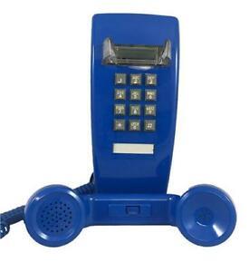 Cortelco-255412-VBA-20M-Traditional-Mini-Wall-Phone-w-Volume-Blue-ITT-2554-V-BL