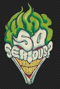"""55967f7ab 5"""" Why So Serious Joker Head Face Quote Cool Crazy Graphic Diecut ..."""