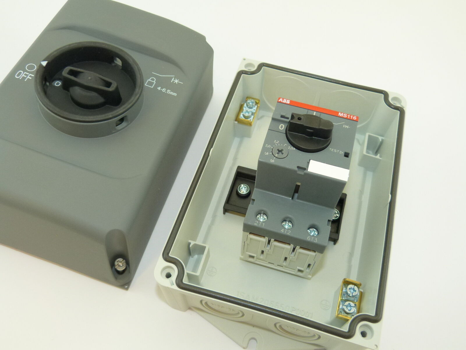 ABB IB132-G Enclosure For Use With MS116 and MS132 Series Manual Motor Starters