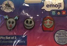 disney store nightmare before christmas emoji jack sally zero 3 pin set