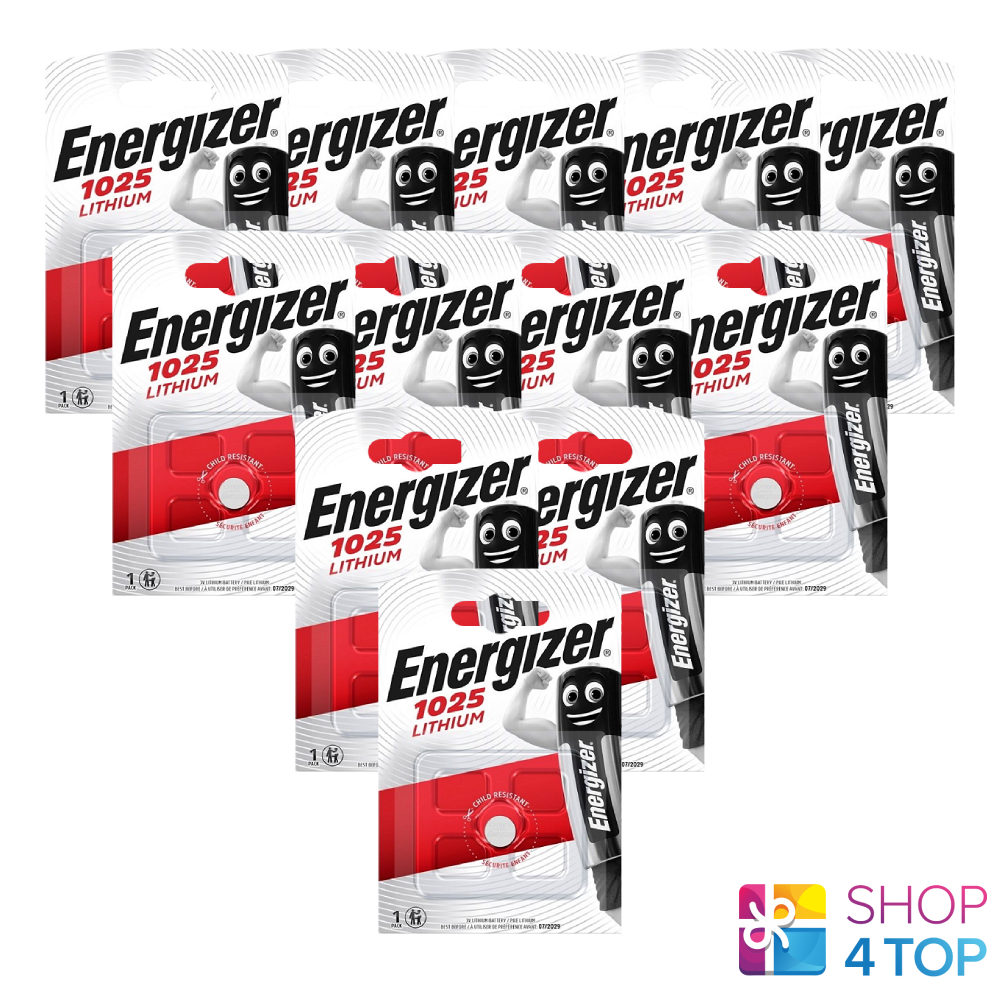 12 Energizer CR1025 Lithium Battery 3V Cell Coin Button Exp 2030 New