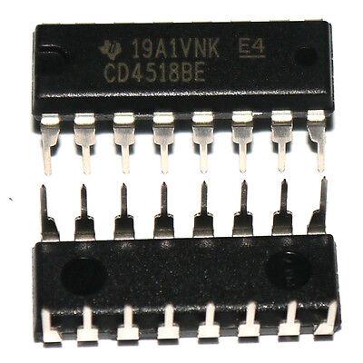 10x CD4518BE CD4518 HEF/HCF4518 TI DIP-16 CMOS DUAL UP-COUNTERS IC good quality