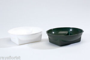 Bien Plastic Square Round Bowl Posy Dish Pack Of 5 Choice Of Colours Smithers Oasis