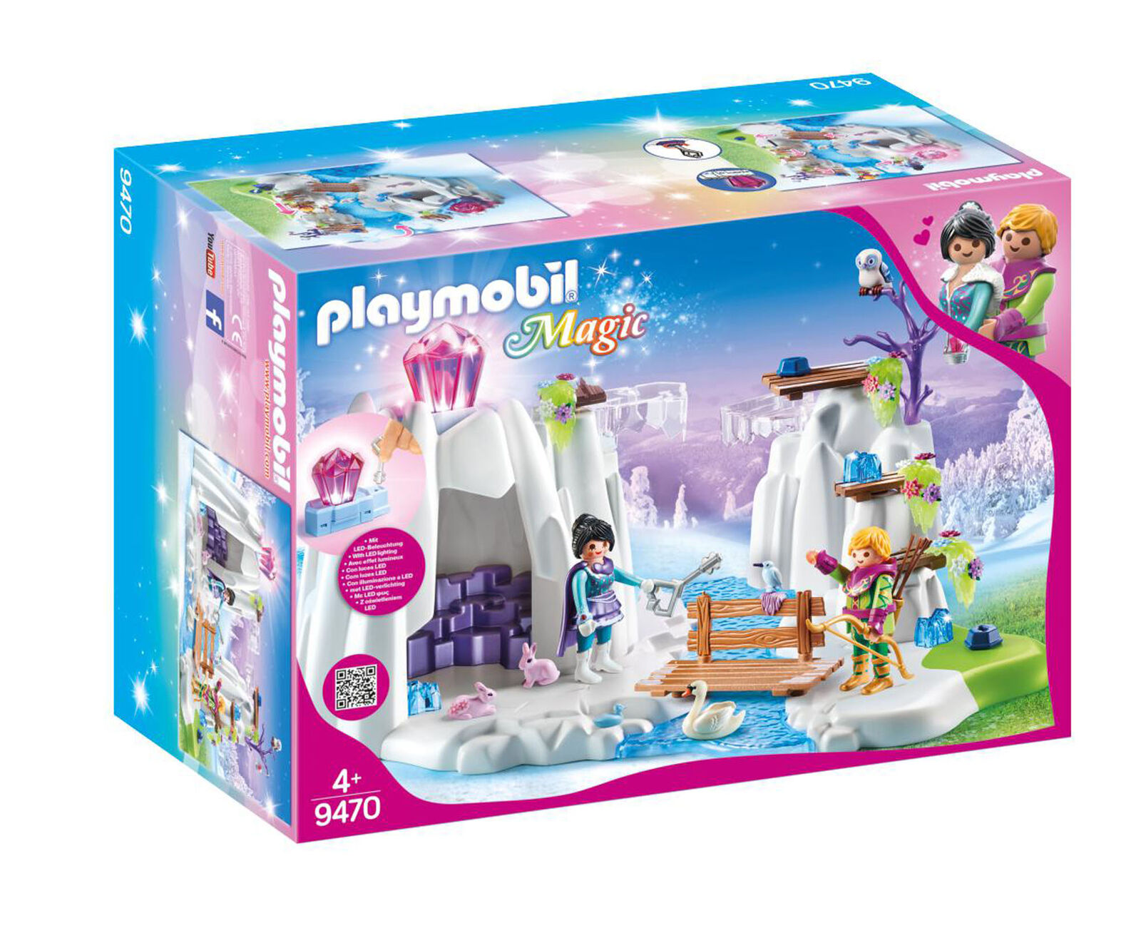 9470 Playmobil Crystal Diamond Hideout with Shiny Crystal Magic Suitable for age