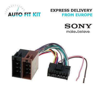 sony 16 pin iso wiring harness loom adaptor wire radio connector lead  old   ebay