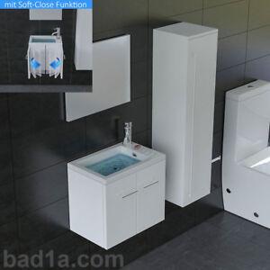 Details Zu Gäste Wc Waschtisch Mit Unterschrank Weiß Badmöbel Waschbecken Badezimmer