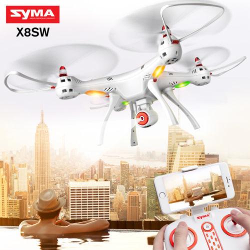 Syma x8sw 2.4g 4ch rc - drohne quadcopter mit 2m kamera hd wifi fpv live video rtf