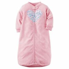 NWT Carter's Baby Girls Pink Fleece Sleep Sack 0-9 mos Winter Pajamas Infant Bag