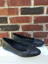 BALENCIAGA Anthracite Gray Leather Classic Ballet Flats Regular HW 37 6.5* RARE!