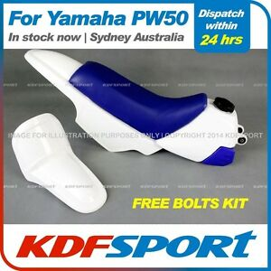 KDF-PW50-Plastics-Fenders-Tank-White-Seat-Blue-For-Yamaha-PW50-PY50-Pe