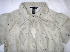 H&M Damenmode Elegante Transparente Puffärmel Damen Bluse Beige Gr.40 * NEU TOP