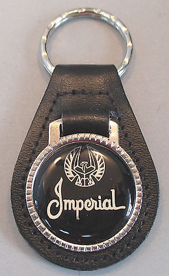 Script Leather Chrysler Imperial Eagle 1991 Ring Key Silver Black 1993 1992 1990 gXnqZIxdq
