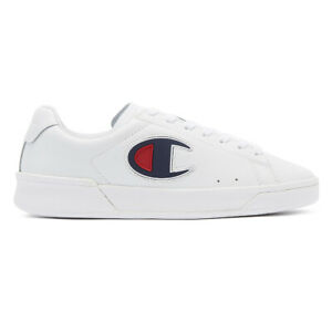 champion m979 low mens white trainers lace up sport casual