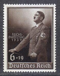 Germany 1939 MNH Mi 701 Sc B147 Adolf Hitler ** 1939 Nazi Congress at Nuremberg