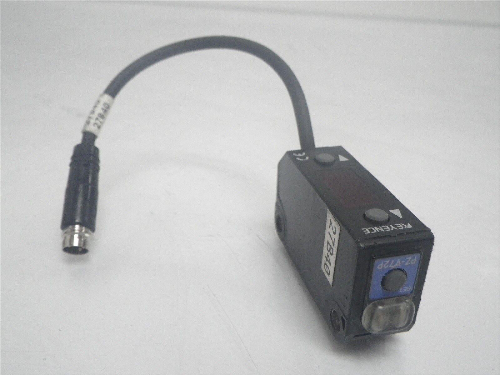 PZ-V13 PZV13 Keyence photoelectric sensor reflective 4-Pin (Used and Tested)