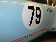 Race rally number roundels for classic car - Pair of 40 cm stickers Porsche Mini