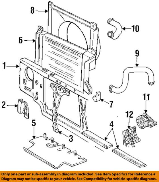 ford oem 94-97 f-250 7 3l-v8 radiator-fan shroud