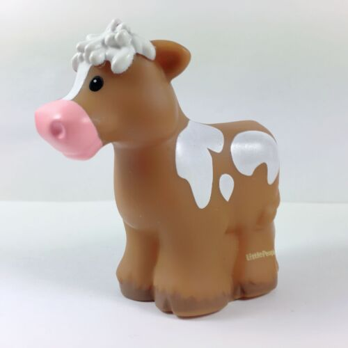 Fisher Price Little People BROWN SPOTTED COW Animal Farm Zoo Ark for Farmer