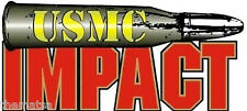 "USMC MARINE CORPS BULLET IMPACT HELMET TOOLBOX CAR DECAL STICKER MADE IN USA 4"""