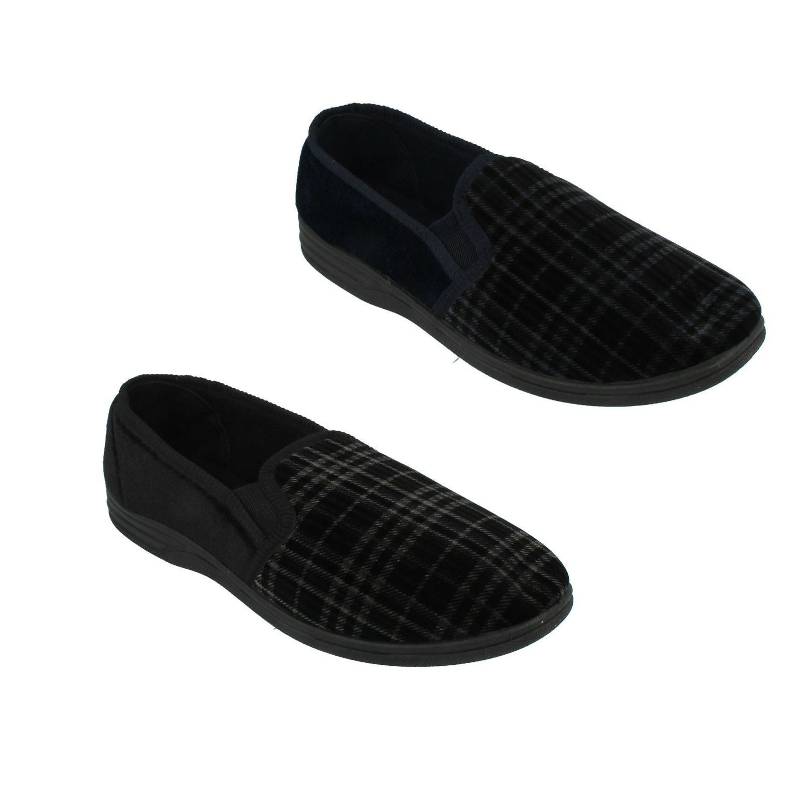 MS60 QUALITY SLIPPERS SLIP ON INDOOR MOCCASINS TWO SIDE SIDE SIDE GUSSETS MENS SHOES 226569