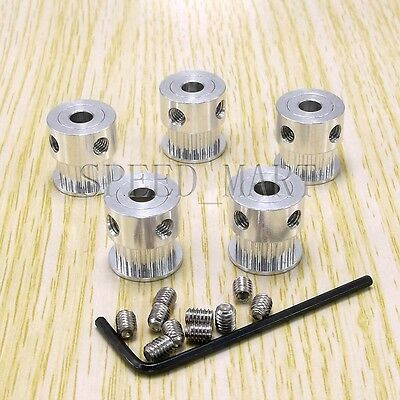 5pcs GT2 Timing Pulleys Grub Screws RepRap Prusa Mendel 3D Printer 20T 8mm Bore