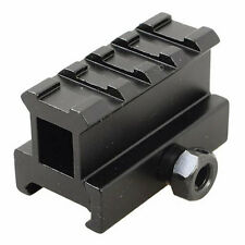 Weaver Picatinny Compact Rifle Scope Hi Riser Mount Rail 20mm 4 Slot Airsoft UK