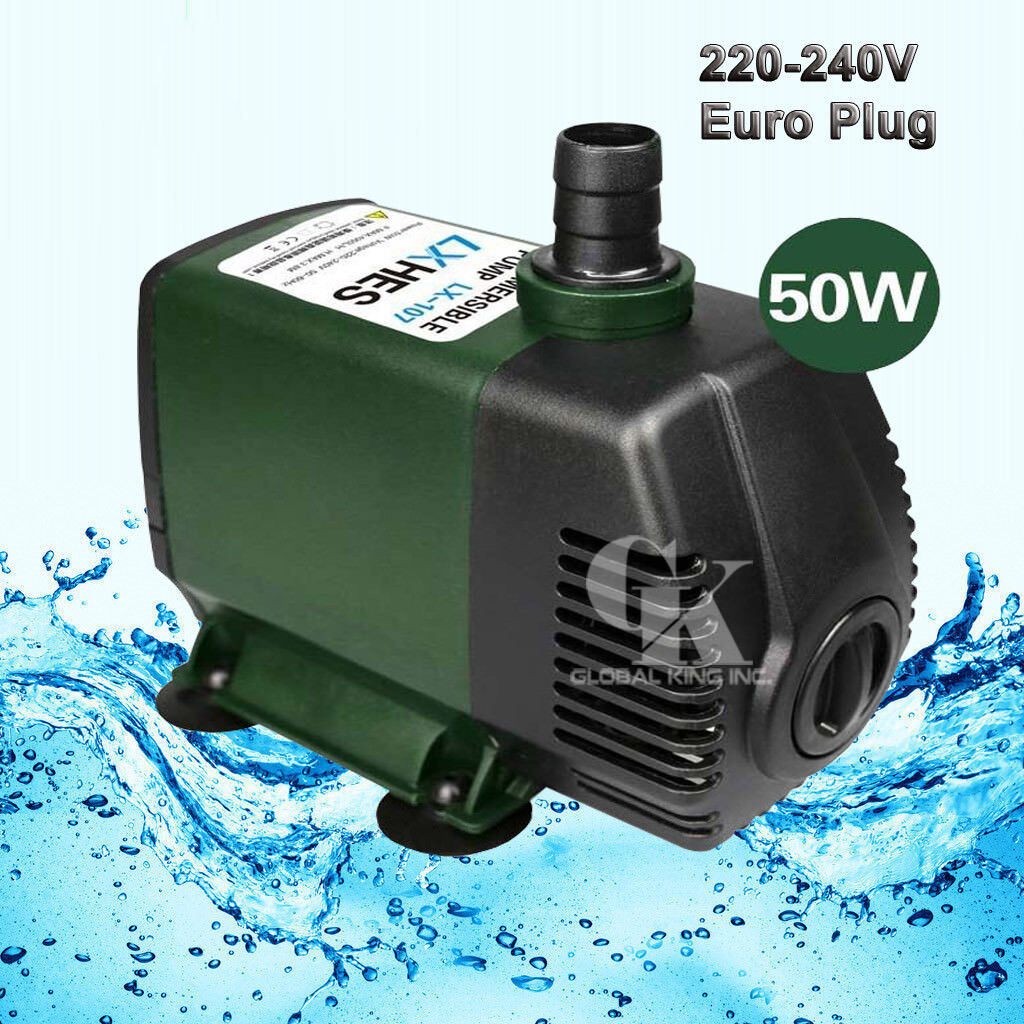 220V Submersible Water Pump 4000LPH Fish Tank Fountain Pond Fall Hydroponic 50W