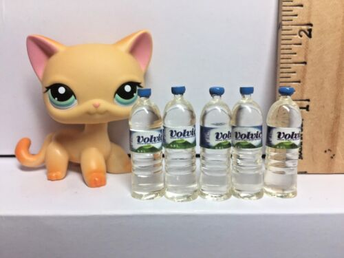 5 Pc Dollhouse Miniature Bottled Water Bottle Drink 1:6th Scale