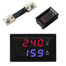 100V 100A DC Digital Voltmeter Ammeter Amp Volt Meter Current Shunt Motor Solar
