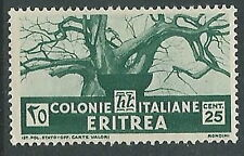 1933 ERITREA SOGGETTI AFRICANI 25 CENT MNH ** - P11-9