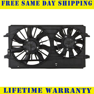 1X Dual Radiator Cooling Fan ASSY For 04-12 Malibu 05-10 G6 08-09 Aura 15788745