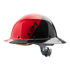 Lift Safety Dax Fifty50 Red Amp Black Full Brim Hard Hat With Ratchet Suspension