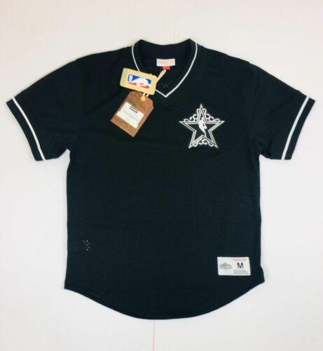 Men/'s All Star Weekend NBA Mitchell /& Ness Black Mesh V-Neck Jersey T-Shirt L