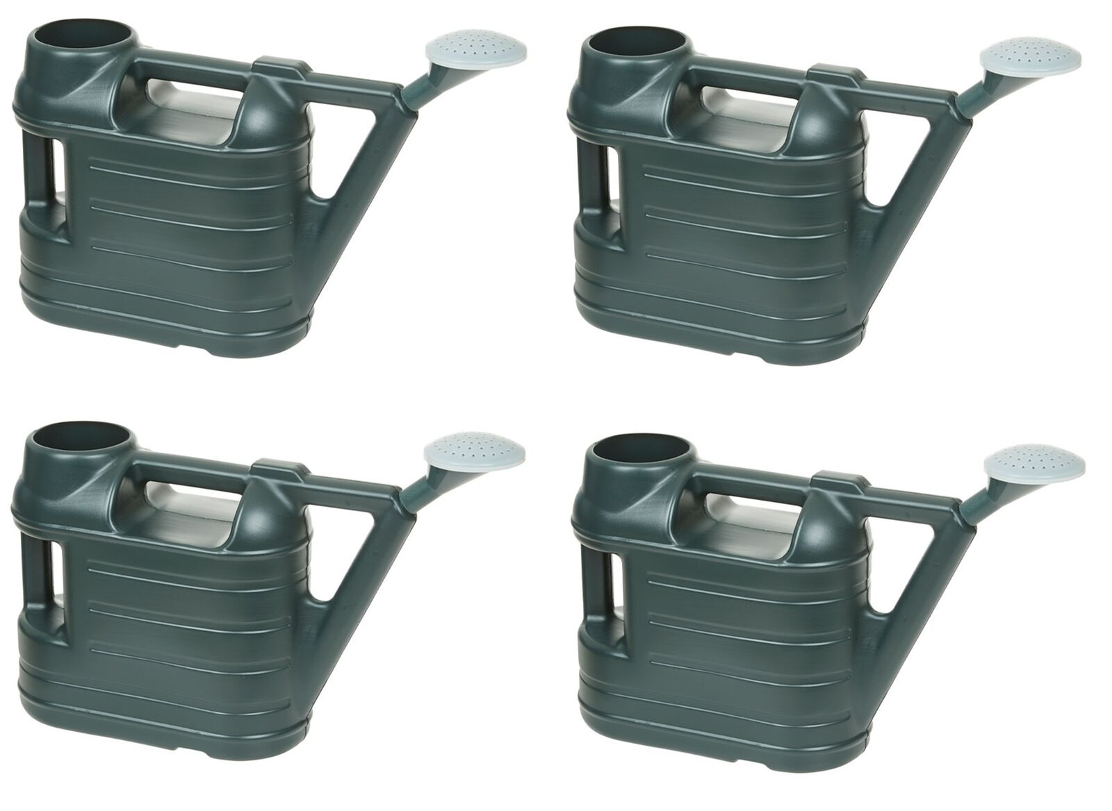 4x 6.5L Ward Green Watering Can With Rose Water Sprinkler Garden 1.4 Gallon