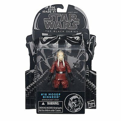 "2015 HASBRO STAR WARS BLACK SERIES #18 MOSEP BINNEED 4"" ACTION FIGURES MOC"