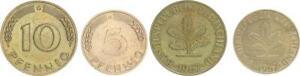 Germany Frg 5 And 10 Pfennig 1967 G, Vf-Xf