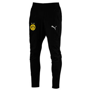 Puma-Borussia-Dortmund-Bvb-Leisure-Men-039-s-Trousers-Training-Black-2018-2019