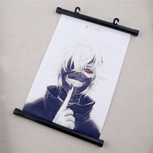 Anime-Tokyo-Ghoul-Poster-Cartoon-Wall-Scroll-Fan-039-s-Art-Print-Home-Decoration-New