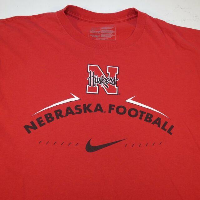 Incomodidad sofá Descifrar  NIKE UNIVERSITY OF NEBRASKA Huskers Football TEE T SHIRT Sz Mens M Red |  eBay