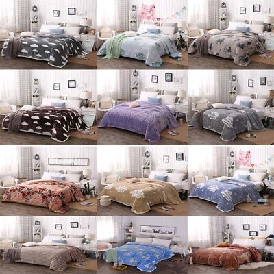 Thin Blanket Soft Throws Flannel Nap Blanket For Bed For Sofa Summer Comfy G451