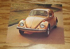 Original 1976 Volkswagen VW Beetle Sales Sheet Brochure 76