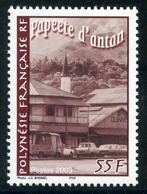Devoted Stamp Maisons Egise Pleasant To The Palate Timbre Polynesie N° 685 ** Papeete D'antan